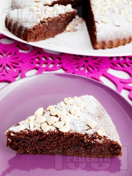 Лесен какаов кекс с масло и пудра захар - снимка на рецептата
